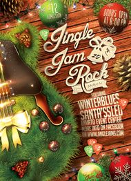 Jingle Jam Rock Flyer Template by Design Cloud