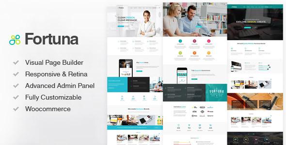 Fortuna - Responsive Multi-Purpose Wordpress Theme - Business Corporate