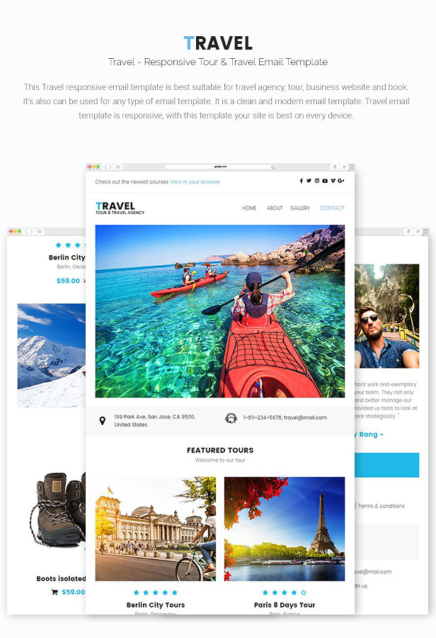 travel responsive tour travel email template