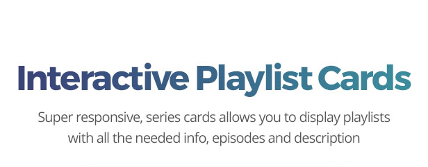 Playlist cards