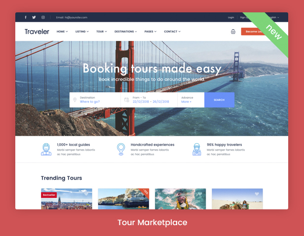 Traveler - Travel Booking WordPress Theme - 6