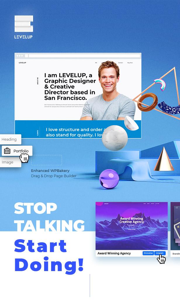 LEVELUP - Responsive Creative Multipurpose WordPress Theme - 1