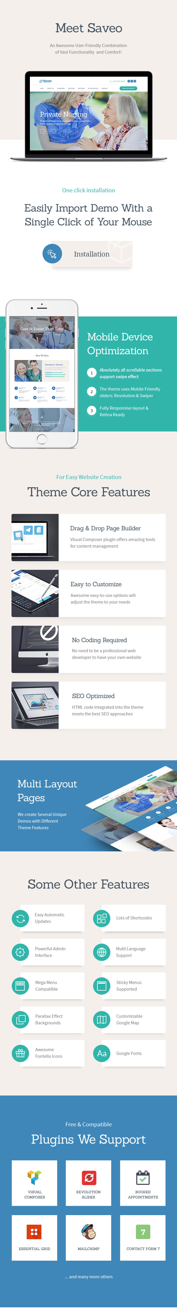 Saveo | In-home Care & Private Nursing Agency WordPress Theme - 1