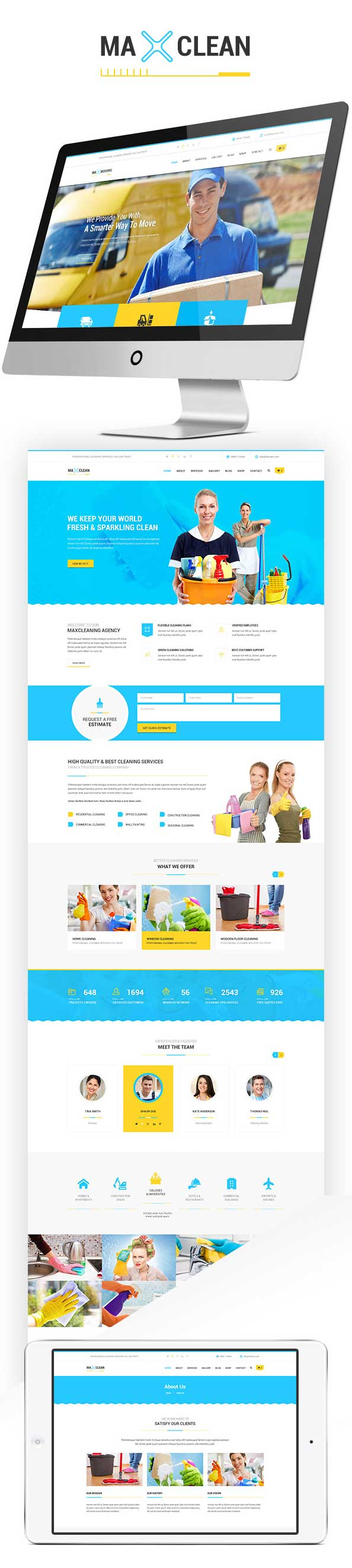Max Cleaners & Movers - HTML Template - 1