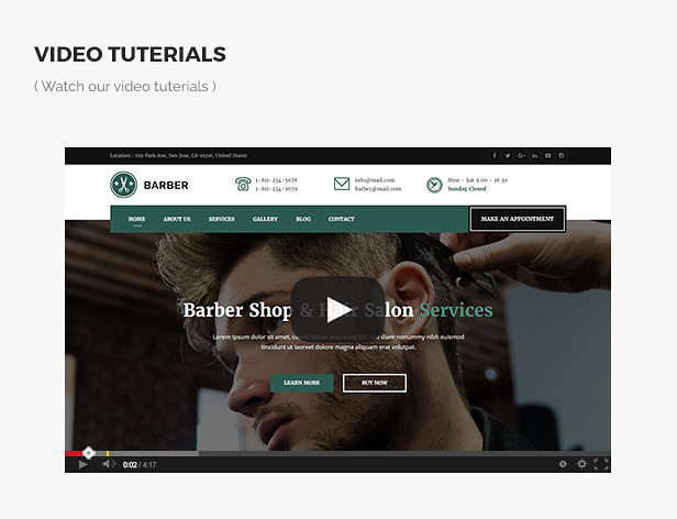 Barber - Responsive Barber Shop and Hair Salon Template - 9