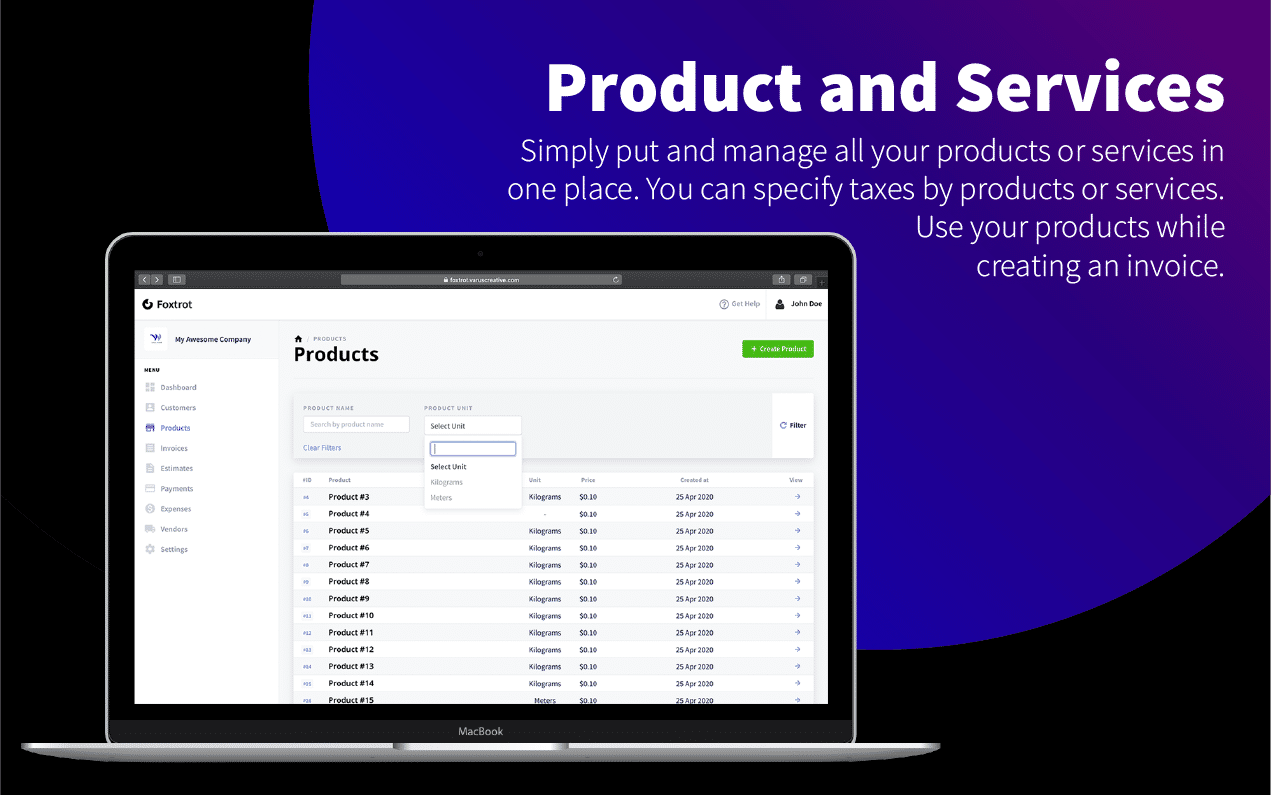 Foxtrot (SaaS) - Customer, Invoice and Expense Management System - 8