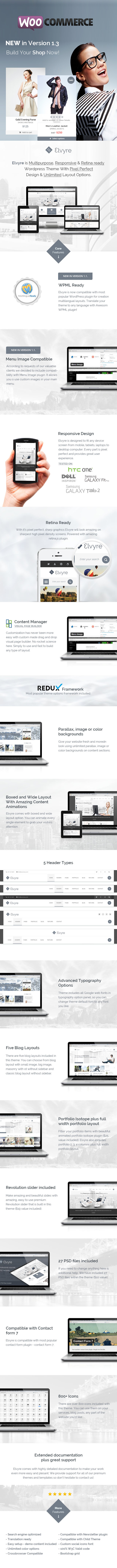 Elvyre – Retina Ready WordPress Theme by pixel industry