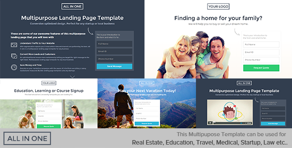 Multipurpose Landing Page Template - ReadyMade - 2