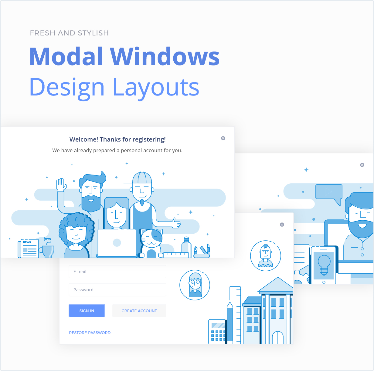 Modal Windows Design Layouts