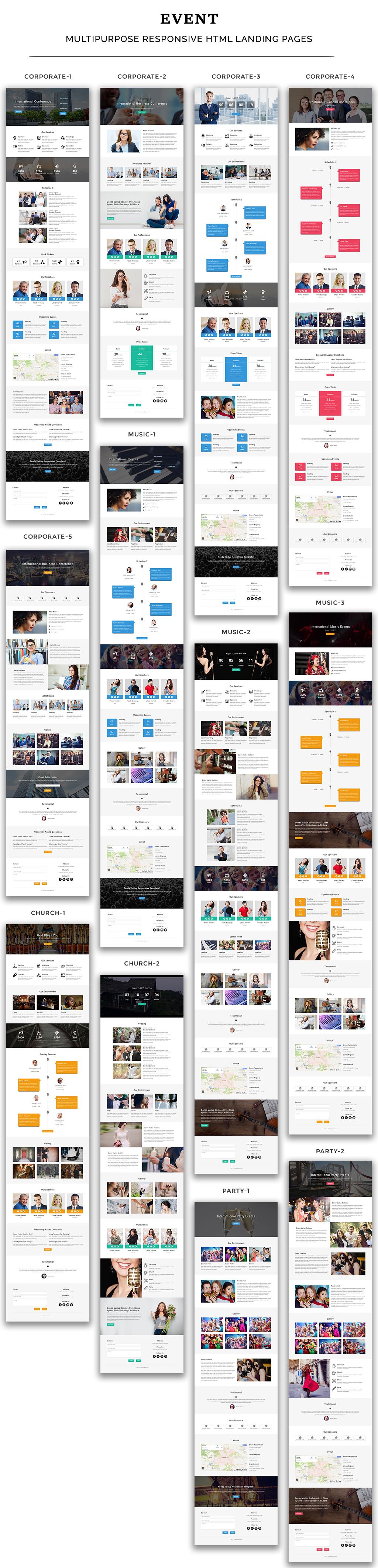 EVENT - Multipurpose Responsive HTML Landing Page