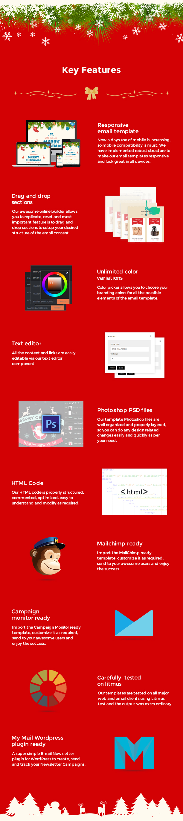 christmas and new year responsive email template with builder by themezaa