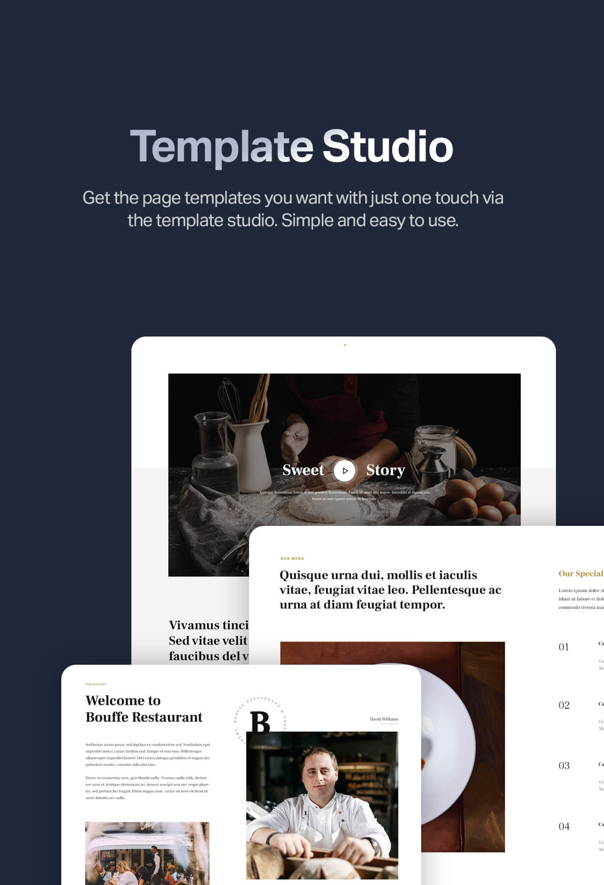Template studio