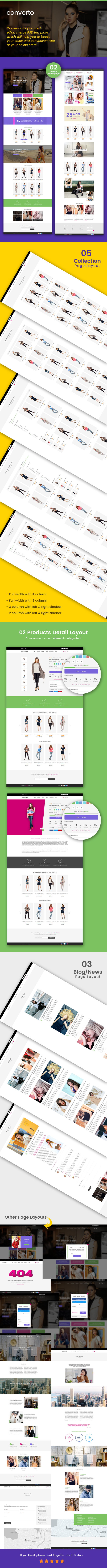 Converto - Conversion Optimized eCommerce PSD Template - 1