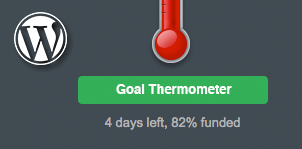 WordPress Goal Thermometer