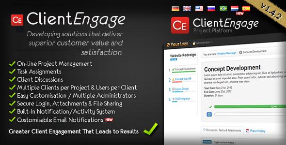 ClientEngage Project Platform - PHP Project Management Script