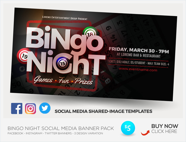 Bingo Night Flyer Templates By Kinzi21 Graphicriver