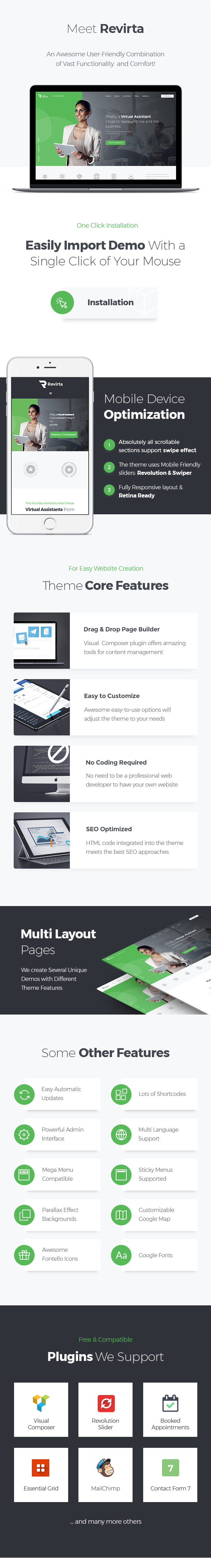 Revirta | Virtual Assistant WordPress Theme - 2
