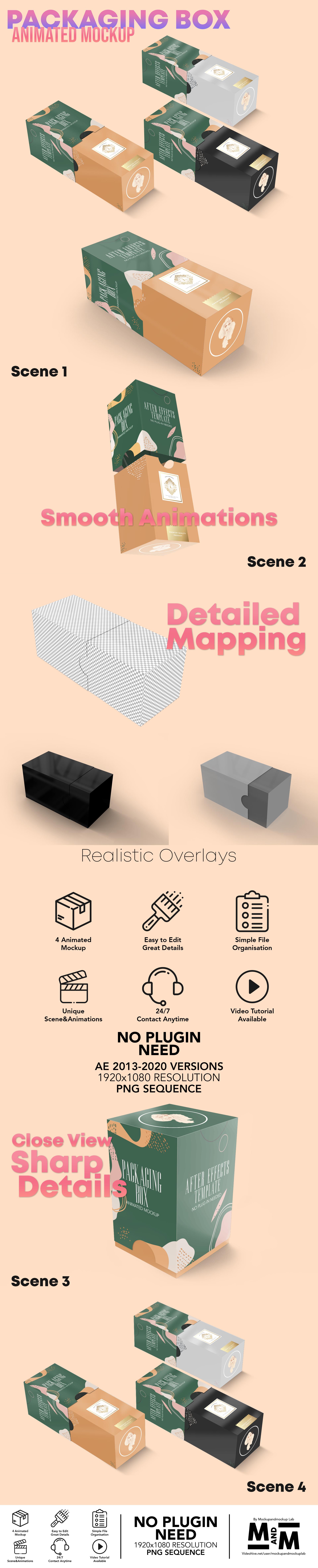 Packaging Box Animated Mockup - 3
