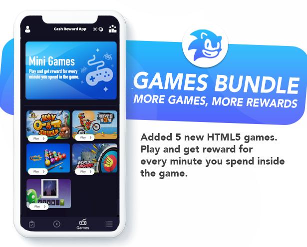 Premium Rewards App - CPI Offers System & Rewards App & HTML5 Mini Games + PHP Laravel Admin Panel - 5
