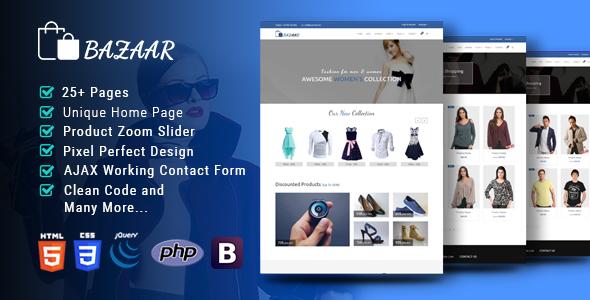 Bazaar-Multipurpose Responsive eCommerce HTML Template - Shopping Retail