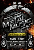 Metal Music Party Flyer