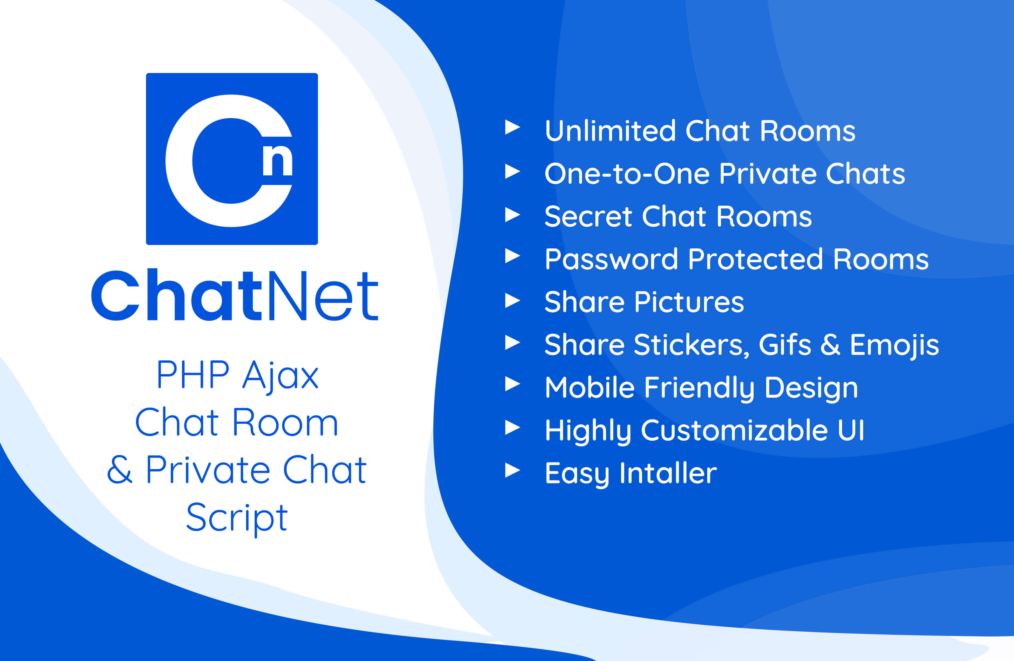 ChatNet - PHP Ajax Chat Room & Private Chat Script - 2