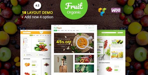 Fruit Shop - Organic Food, Natural RTL Responsive WooCommerce WordPress Theme - WooCommerce eCommerce
