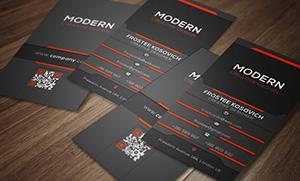 Modern Business Card Template No 5. - 3