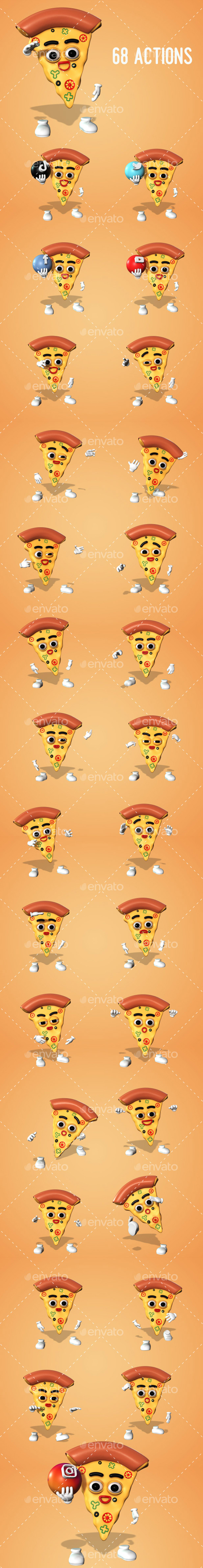Pizza - Character Kit - 2