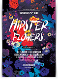 Hipster Flowers Flyer