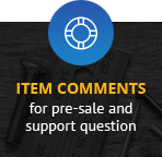 Item comments for pre-sale and support question