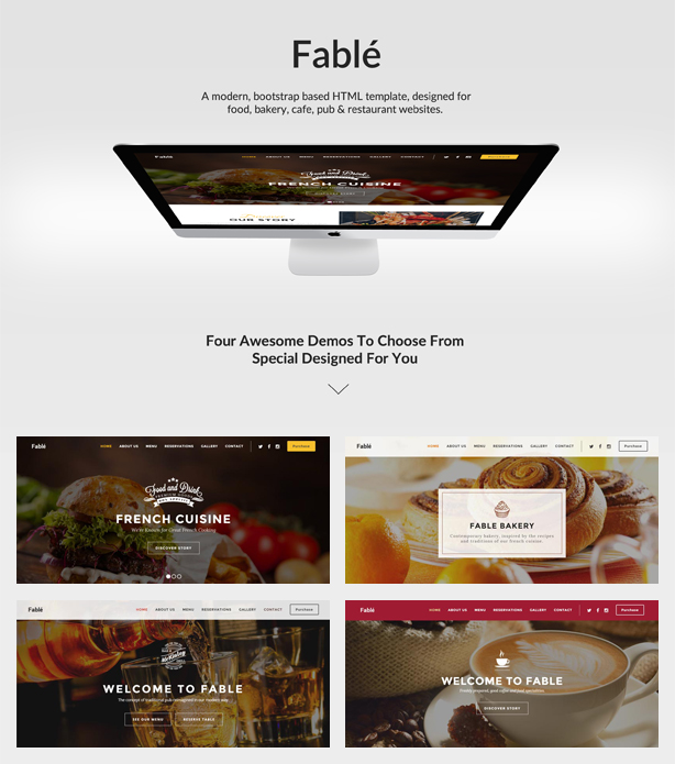 restaurant, bakery, cafe, pub wordpress theme