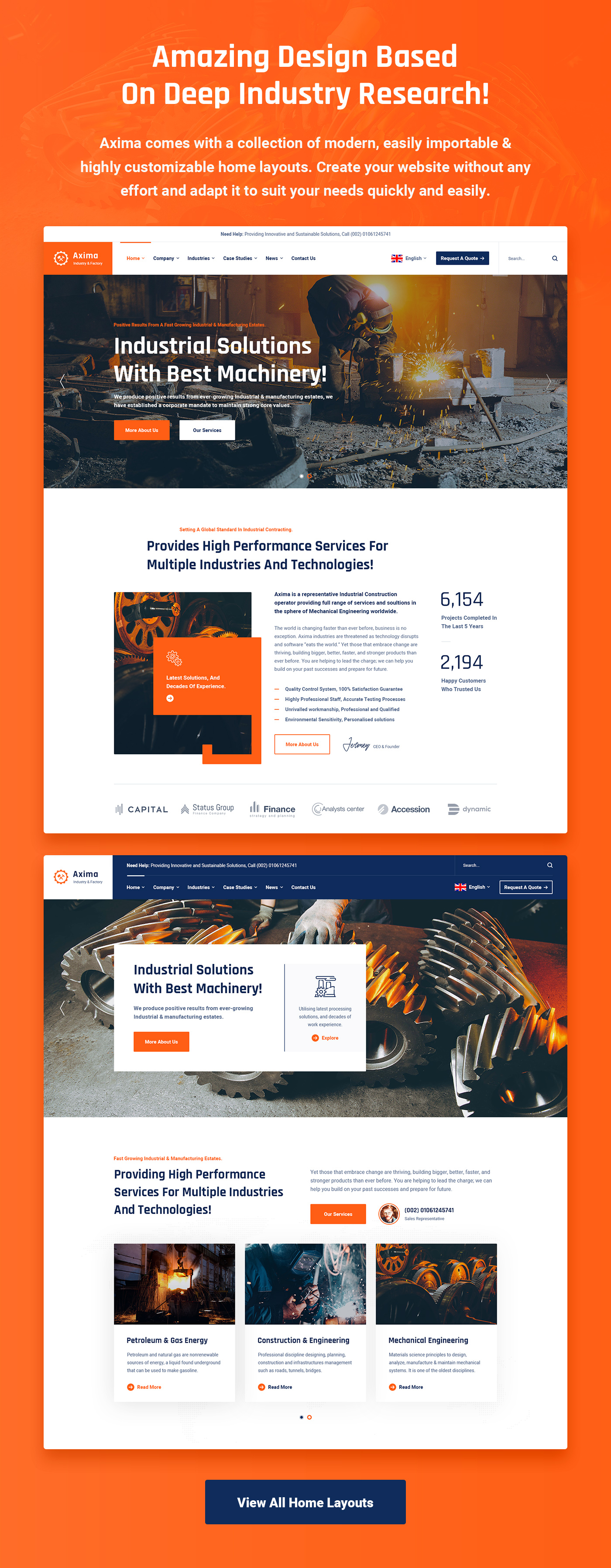 Axima - Factory and Industry HTML5 Template - 6