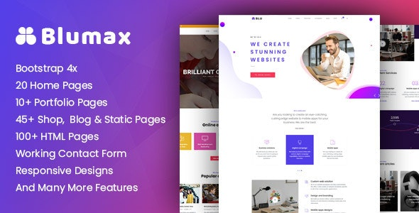 Blumax - Multipurpose Responsive Joomla Website Template - Corporate Joomla