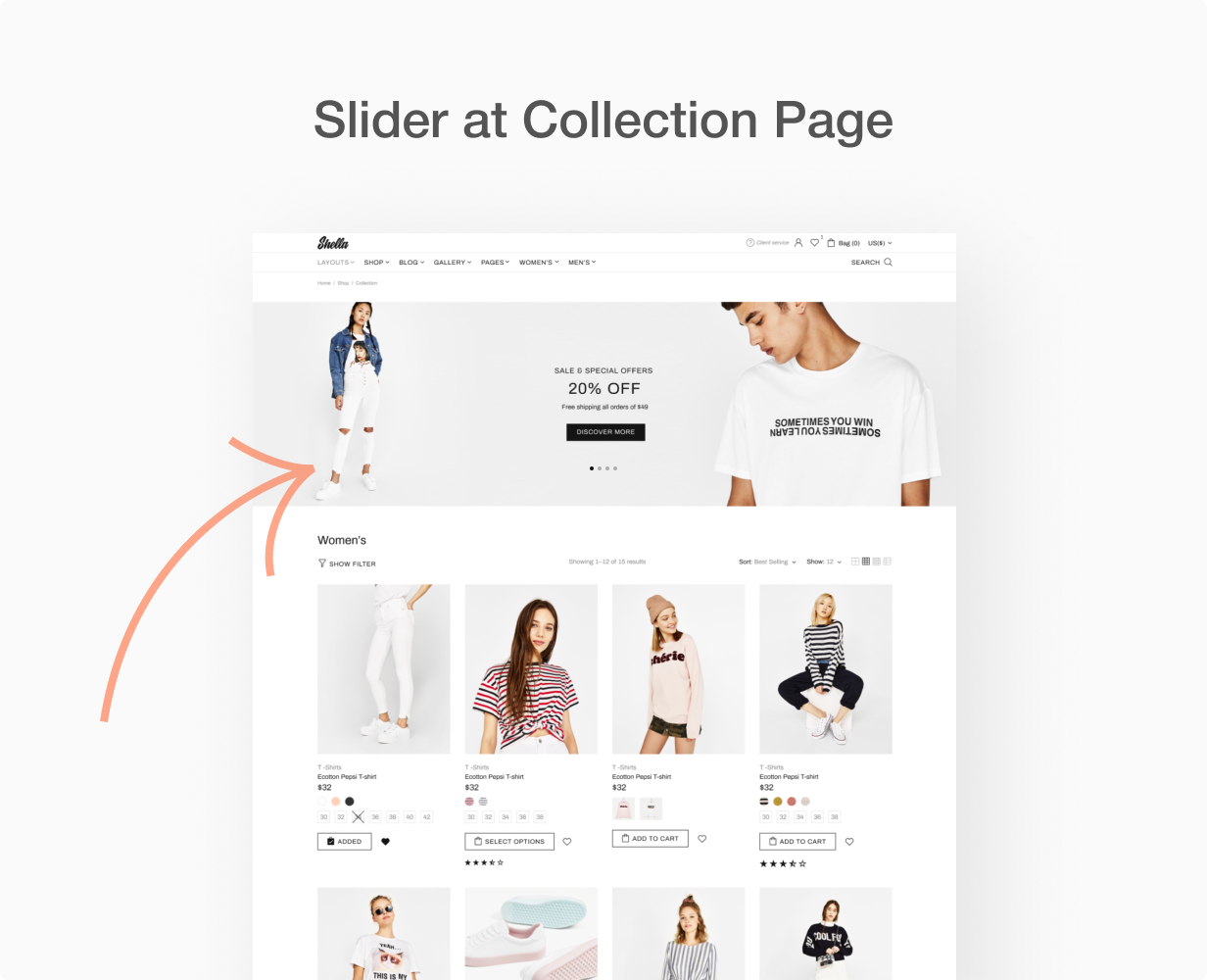 Slider at collection page