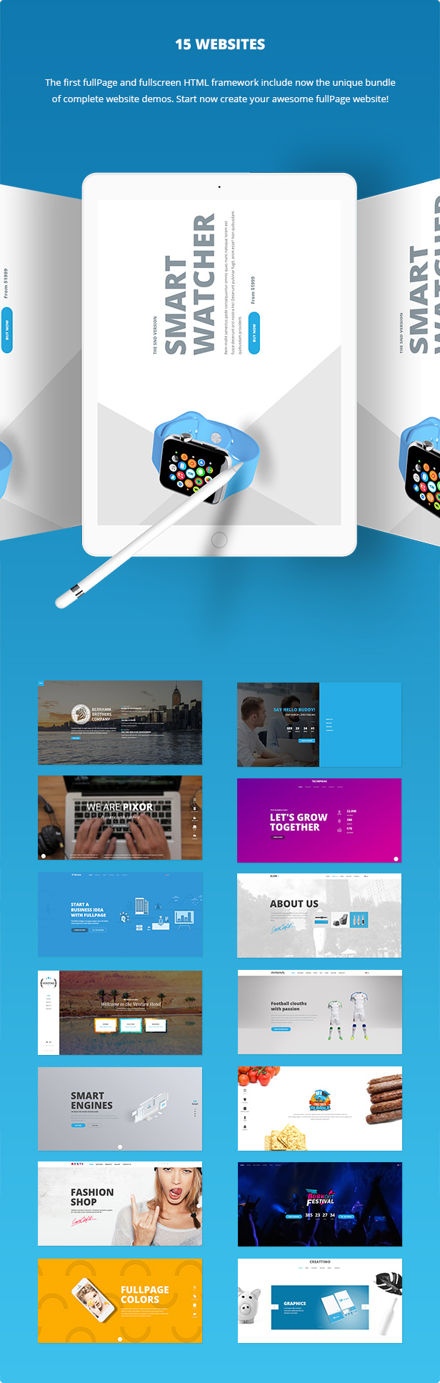 FullPage -  Fullscreen Multi Concept HTML5 Template - 2