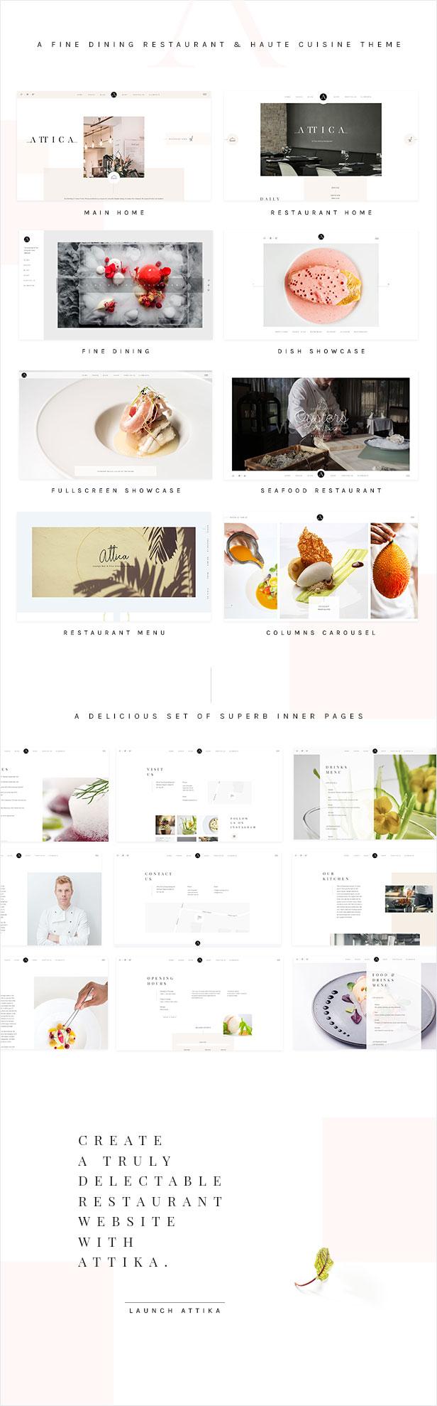 Attika - Elegant Theme for Fine Dining Restaurants - 1
