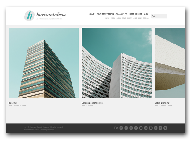 Horizontalism Homepage - Horizontal Layout