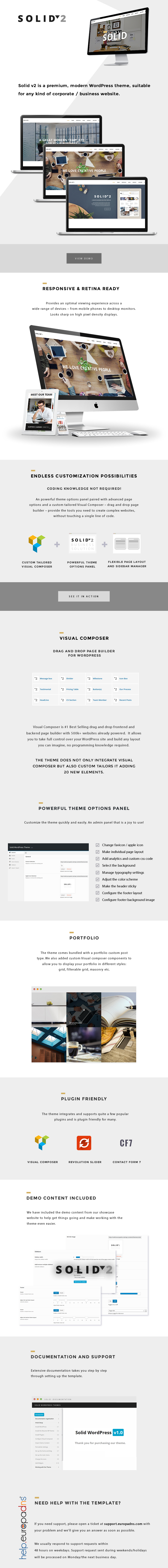 Solid – Responsive Business WordPress Theme