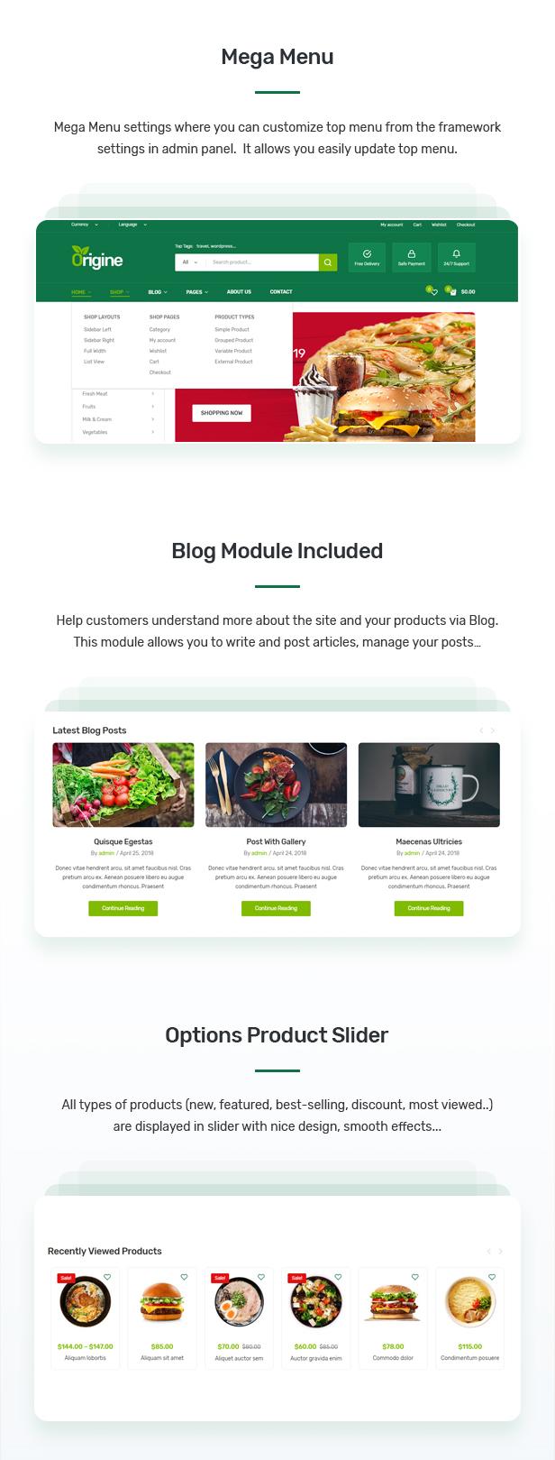 Origine - Organic Theme for WooCommerce WordPress 6