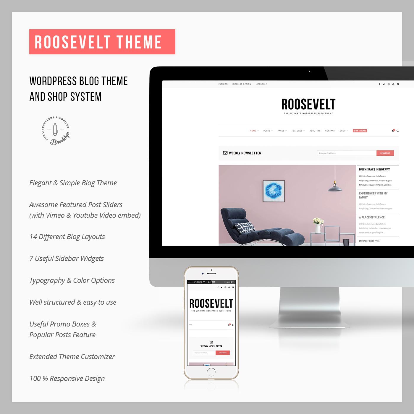 Roosevelt - Responsive WordPress Blog Theme - 7