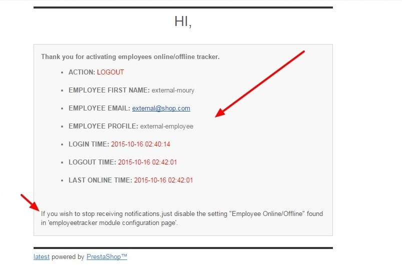 Employee Tracker For Prestashop - 5