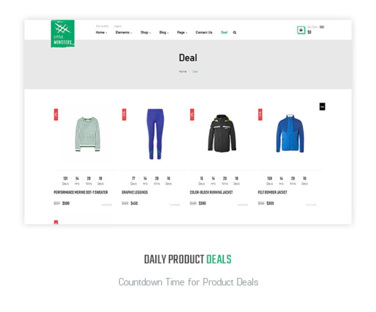 Littlemonsters Daily Deal Sport Shop Woocommerce WordPress Themes