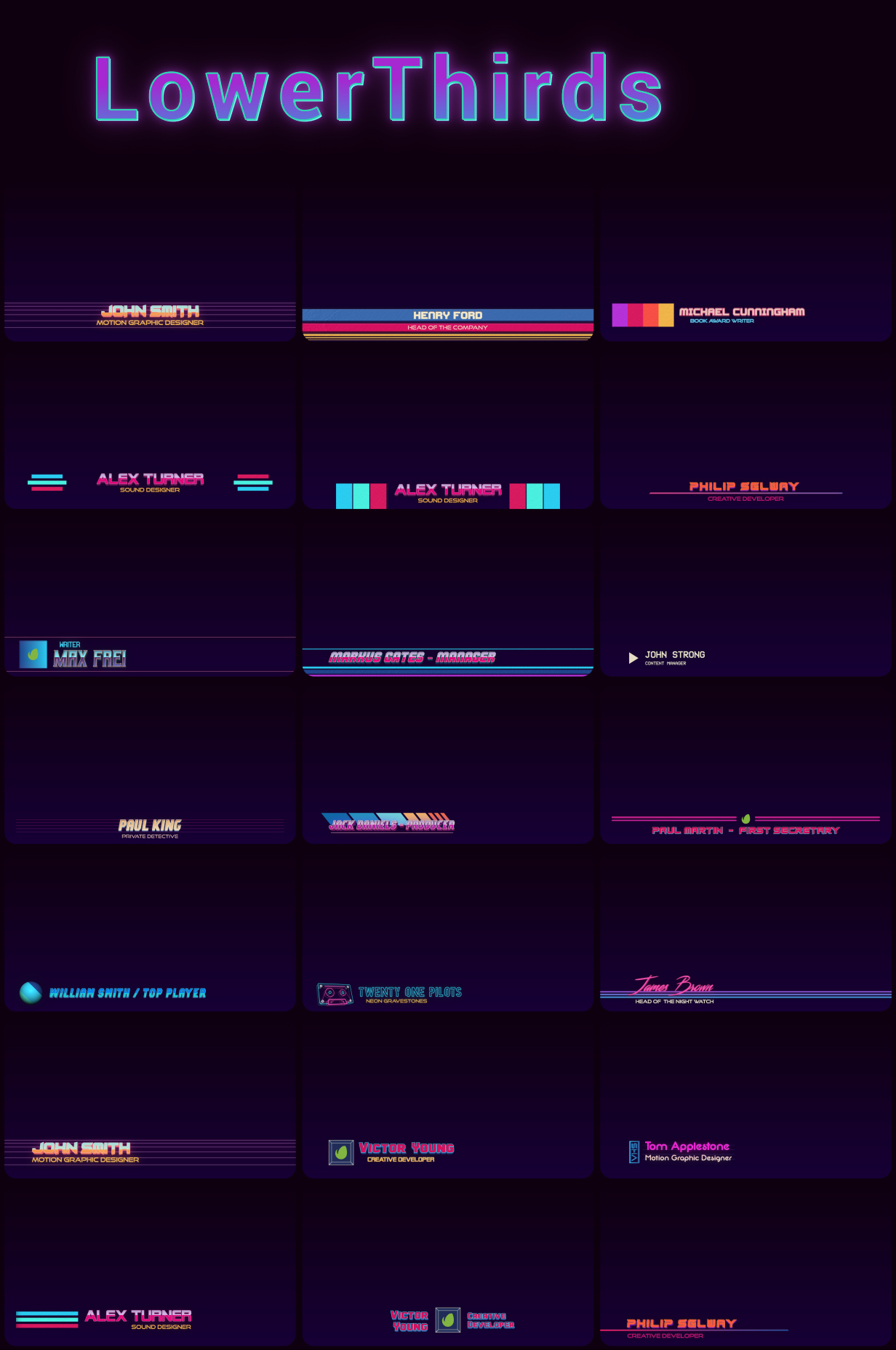 Retrowave Pack - 8