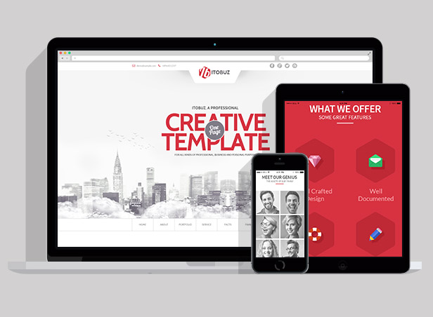 Itobuz One Page HTML Template - 6