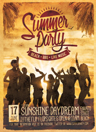 Design Cloud: Retro Summer Party Flyer Vol. 1