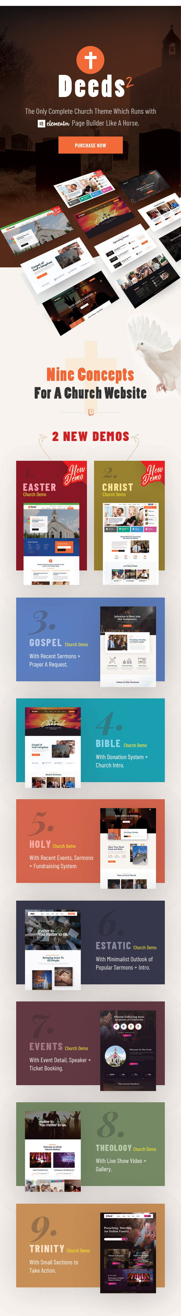 Deeds2 - Religion and Church WordPress Theme - 3