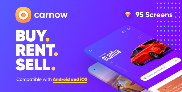 Carnow - buy rent and sell mobile app UI kit