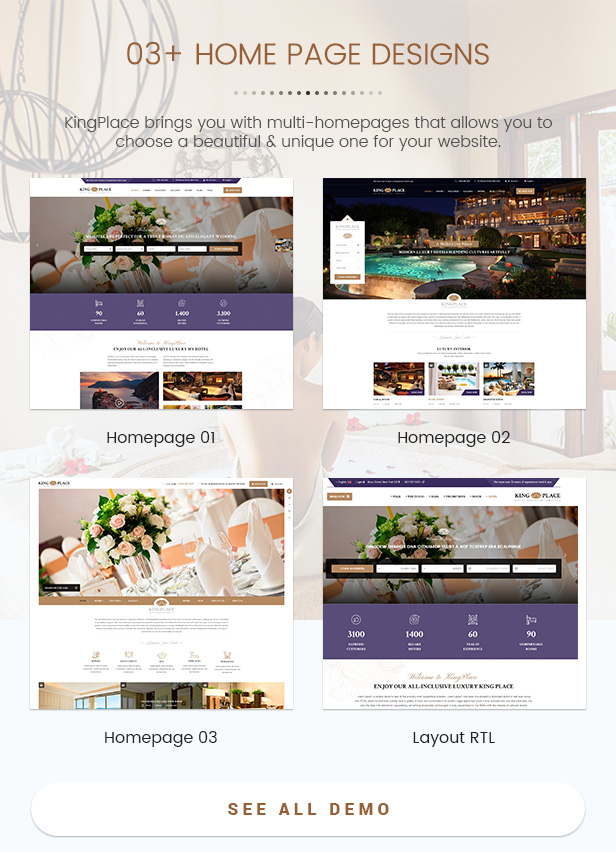 SW KingPlace - Hotel Booking, Resort, Spa and Travel Theme