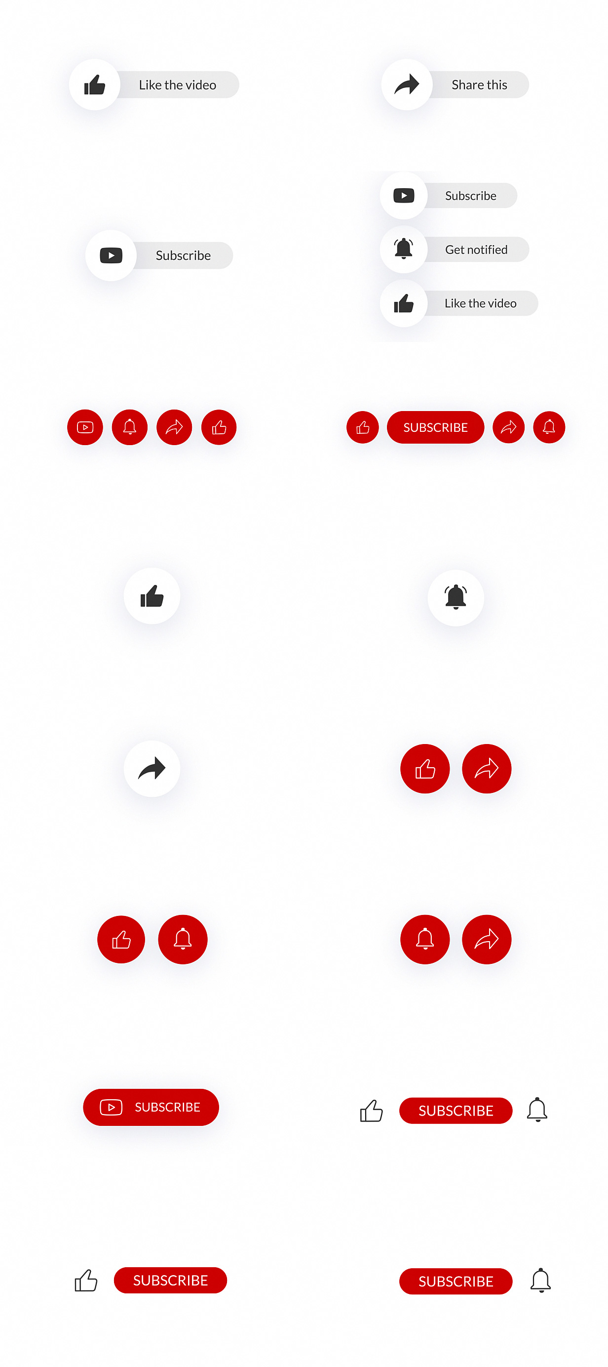 YouTube Buttons Pack - 18